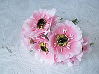 Декоративные цветы (маки) 60 шт/уп. оптом диаметр 5 см, нежно-розового цвета