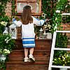 Блакитний костюмчик для дівчинки Україночка, фото 4