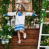 Блакитний костюмчик для дівчинки Україночка, фото 5