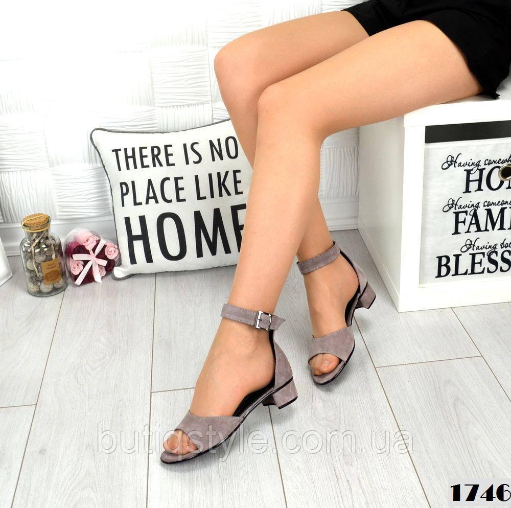 36,38 размер Женские босоножки визон Comfort на низком каблуке , натуральная замша