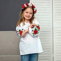 Вышиванка для девочки Красочные маки, фото 2