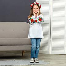Вышиванка для девочки Красочные маки, фото 3