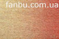 Креп бумага металлизированная с переходом красно-золотая №801/1