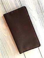 Мужской кошелек из натуральной кожи Goose™ Classic коричневый (портмоне, тревел-кейс)