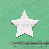 Шаблон пластиковый ЗВЕЗДА ОСТРАЯ, 6 см, фото 2