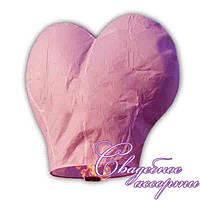 """Небесный фонарик """"Розовое сердце"""""""