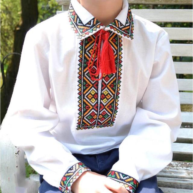 Детская рубашка для мальчика воротник отворот Федор