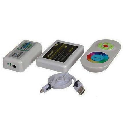 WiFI контроллер для LED ленты RGB радиоуправление сенсорный 288 ВТ. 4х зональный, фото 2