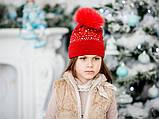 Шапочка на флісі, червоний, Моне, 2-6років, фото 2