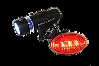 Велосипедная задняя и передняя фары, на светодиодах, фото 1