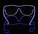 Очки NEON  прозрачные El Neon purple + Часы, фото 3