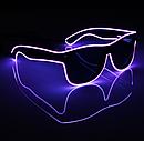 Очки NEON  прозрачные El Neon purple + Часы, фото 2
