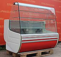 Холодильна вітрина кондитерська «Cold» 1.4 м. (Польща), дуже широка викладка (80 див.), Б/у, фото 1