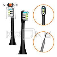 Насадки сменные 2шт Clean для зубной щетки Xiaomi Soocas Soocare X3, черные