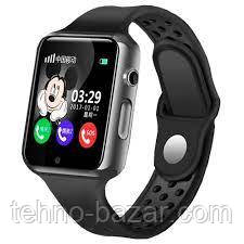 Детские умные часы Smart Baby Watch G98 GPS Black динамик,микрофон, micro sim 380 мАч