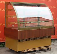 Холодильная витрина кондитерская «Технохолод ВХКД 1.4 Дакота» 1.5 м. (Украина), обшивка с дерева, Б/у