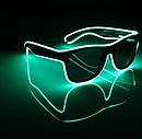 Очки NEON  прозрачные El Neon fluorescent + Часы, фото 3