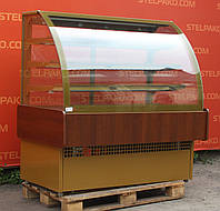 Холодильная витрина кондитерская «Технохолод ВХКД 1.4 Дакота» 1.5 м. (Украина), обшивка с дерева, Б/у, фото 1