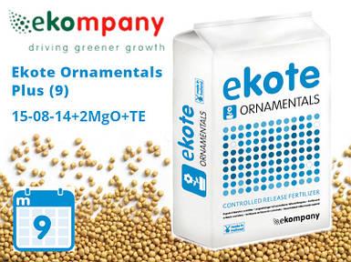 Удобрение Ekote Ornamentals Plus 15-08-14+2MgO+TE (9 месяцев) - 25 кг