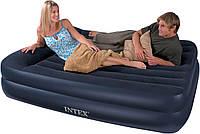 Высокая двуспальная надувная кровать 66720