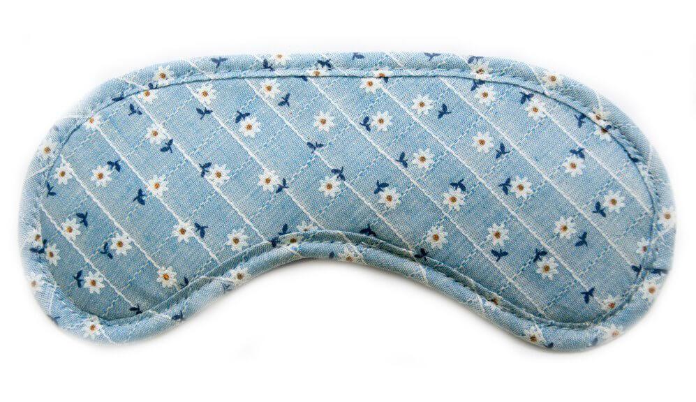 Маска для сна хлопок голубая в полоску