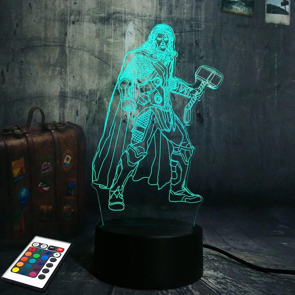 3D светильник с пультом и аккумулятором 3D Lamp Тор (LP-2864)