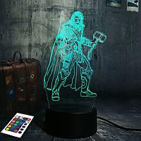 3D светильник с пультом и аккумулятором 3D Lamp Тор (LP-2864), фото 1