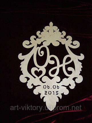 Фамильный герб с датой, декор (50 х 37 см), фото 2