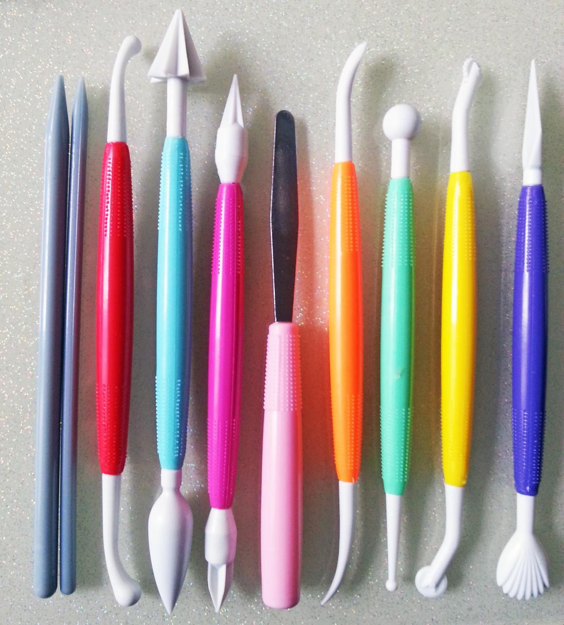 Набор инструментов для лепки - для работы с глиной, мастикой, для керамической флористики 10шт.