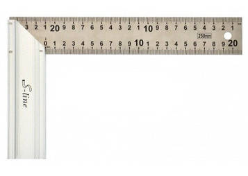 Уголок металлический 15-512 с алюминиевой ручкой 250мм S-Line