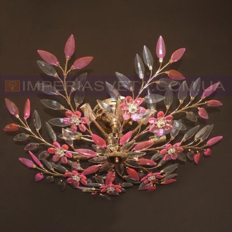 Люстра хрустальная припотолочная IMPERIA восьмиламповая LUX-450553