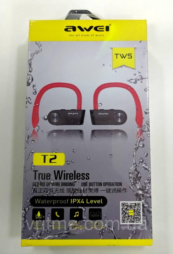 Бездротові Bluetooth навушники (гарнітура) Awei T2
