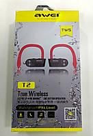 Бездротові Bluetooth навушники (гарнітура) Awei T2, фото 1