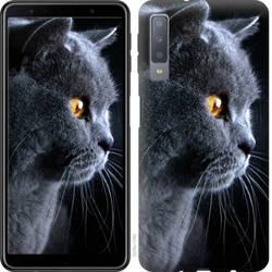 """Чехол на Galaxy A7 (2018) A750F Красивый кот """"3038c-1582-328"""""""