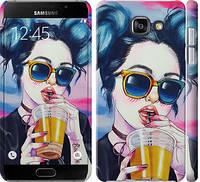 """Чехол на Galaxy A5 (2016) A510F Арт-девушка в очках """"3994c-158-328"""""""