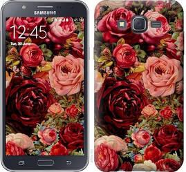 "Чехол на Galaxy J7 J700H Цветущие розы ""2701c-101-328"""