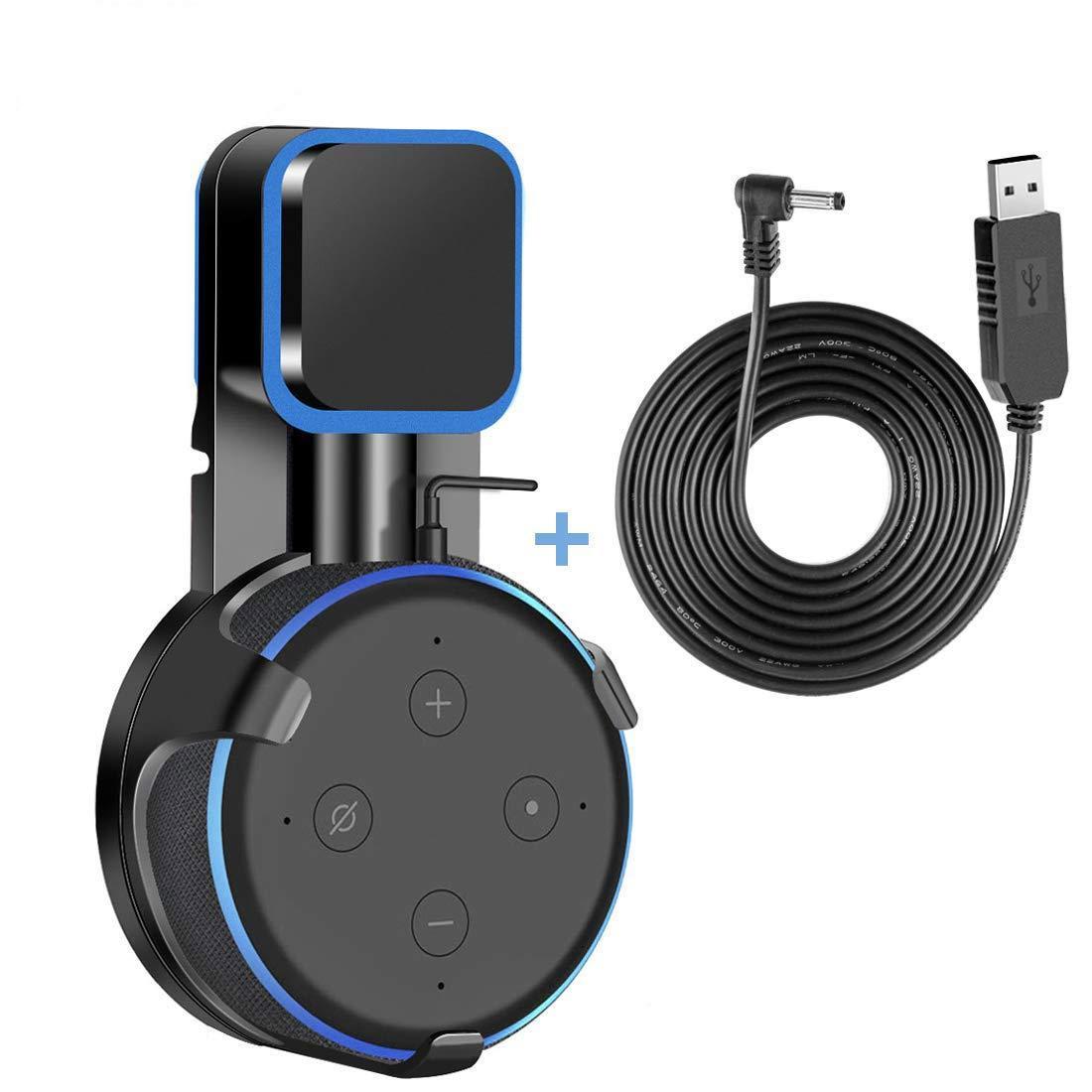 Подставка - держатель  для смарт-колонки Echo Dot 3-го поколения черный