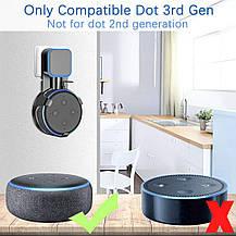 Подставка - держатель  для смарт-колонки Echo Dot 3-го поколения черный, фото 2
