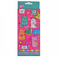 Олівці 12 кол. Lovely cats 290533