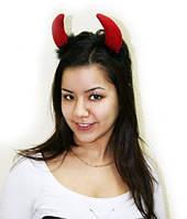 Рожки дьявола красно-черные 250216-312