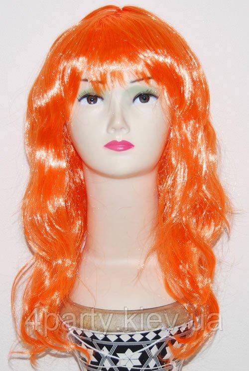 Парик длинный оранжевый 220216-188