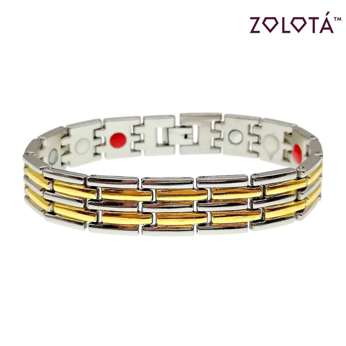 Магнитный браслет с германием и вставками позолоты, длина 20,5 см, БР00028 (20.5 см)