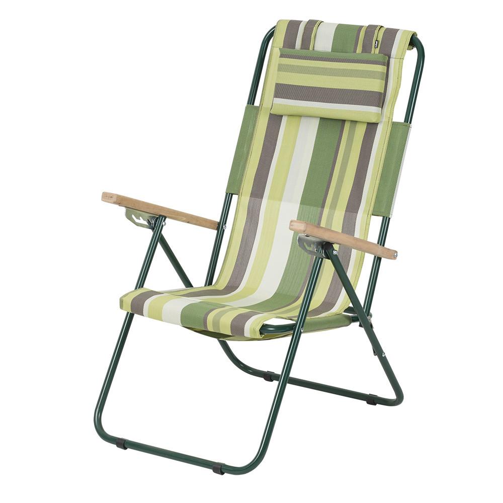 """Кресло-шезлонг """"Ясень"""" d20 мм (текстилен зеленая полоса) ВИТАН (2110016)"""