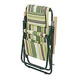 """Кресло-шезлонг """"Ясень"""" d20 мм (текстилен зеленая полоса) ВИТАН (2110016), фото 2"""