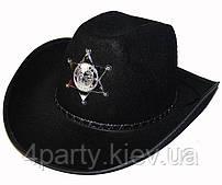 Шляпа Шерифа со звездой (черная) 170216-342