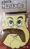 Усы Мусташе коричневые 240216-390
