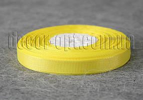 Лента репсовая желтая 0,9 см 25 ярд арт.15