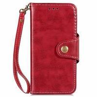 6e89b66b12fe Кожаный чехол- книжка Crazy Horse Texture Retro Business на iPhone XS Max  красный