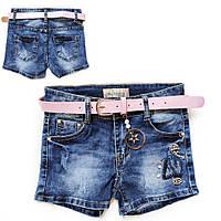 Шорты джинс оптом для девочки  8-14 лет -3249, фото 1