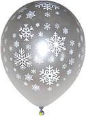 Шарик воздушный Снежинки 12 металлик 1103-3045